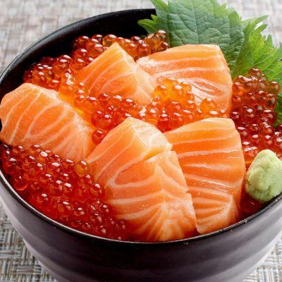 サーモンいくら丼サーモン 150g・醤油漬けいくら 70g 丼2~3杯分